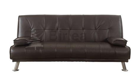 Birlea Logan Brown Faux Leather Sofa Bed By Birlea