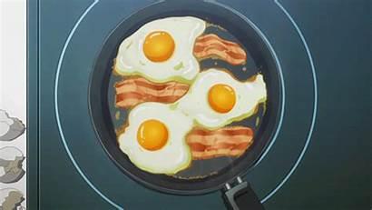 Breakfast Anime Bacon Potsu Pa1 Narvii Eggs
