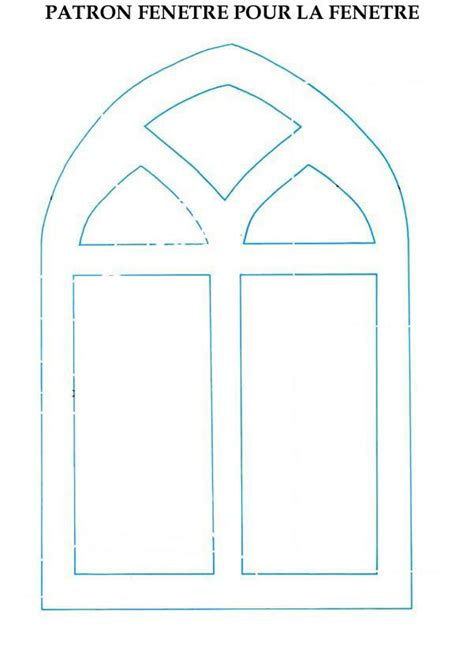 window template crafts and activities window pane decoration