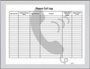 4 best images of free printable phone call log template With call register template