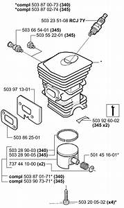 Husqvarna 345  2001  Cylinder
