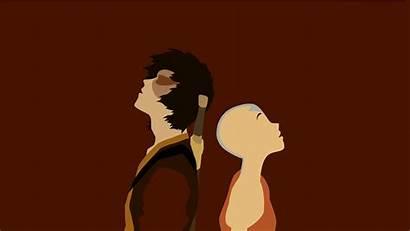 Avatar Minimalist Wallpapers Atla Firelord Zuko Aang