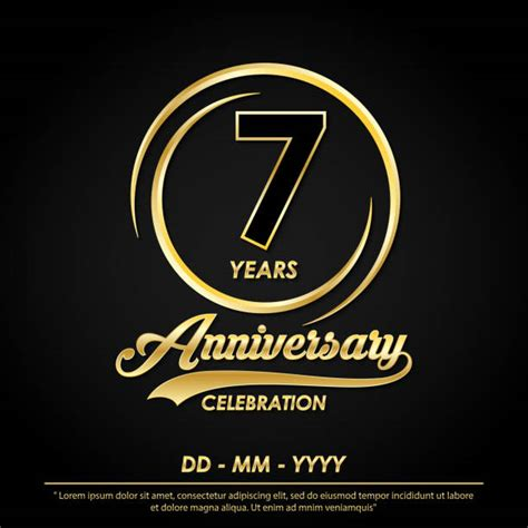 7th Anniversary Background Illustrations Royalty Free