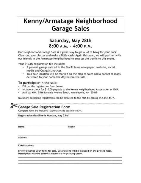 Garage Sale Register by 5 Garage Sale Sign Templates Free Premium Templates