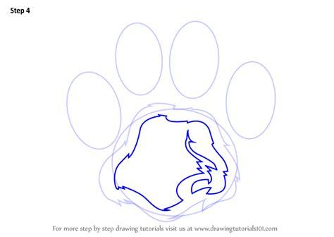 learn   draw  tiger paw animals  kids step