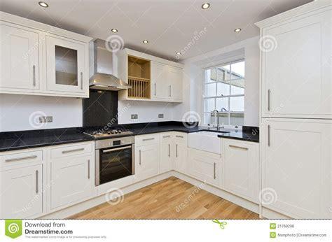Modern Kitchen L Shape Kitchen In White Royalty Free Stock