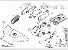 Mass air flow sensorintake silencer BMW 3' E46 320d