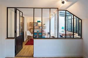 Verriere Atelier D Artiste : une verri re sous les combles d 39 un toit en pente ou mansard ~ Nature-et-papiers.com Idées de Décoration