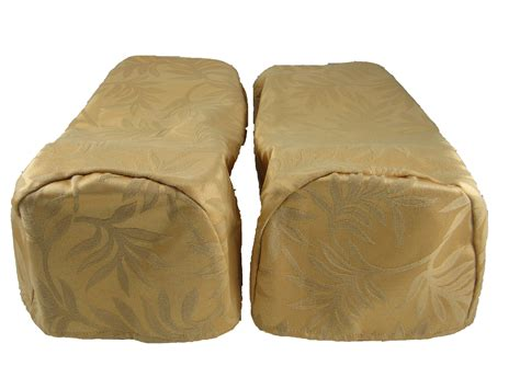 Pair Gold Arm Cap Chair Settee Covers Decorative