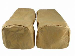 pair gold arm cap chair settee covers decorative With chair arm cap covers