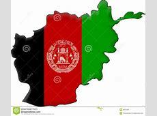 Vlag Afghanistan vector illustratie Illustratie bestaande