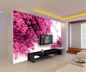 Bright flowers design 3D wallpaper!Free shipping Large ...