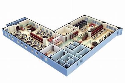 Plan Floor 3d Office Modern Software Open