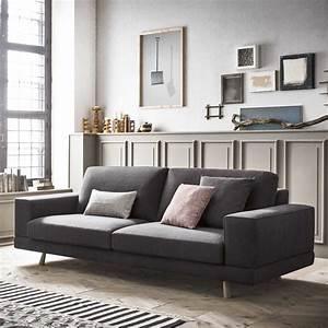 Baltimora, Scandinavian, Style, Sofa, With, Wooden, Legs