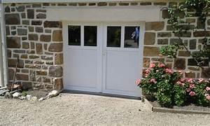 porte de garage battante avec portillon integre ouverture With porte de garage enroulable avec porte d entrée pvc blanc