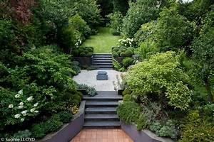 jardin paysager pente jardin pinterest jardin With idee amenagement jardin paysager 0 idee de salon de jardin lounge sur terrasse pierre