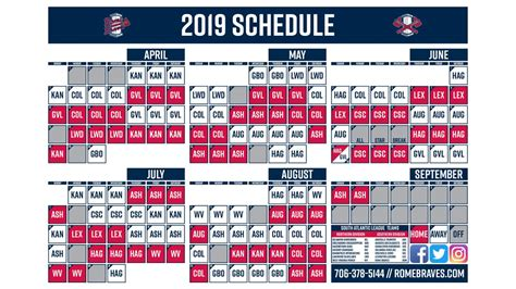 tv stand rome braves release 2019 schedule milb com