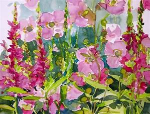 Aquarell Blumen Malen : japanische anemone aquarellmalerei malen am meer ~ Frokenaadalensverden.com Haus und Dekorationen