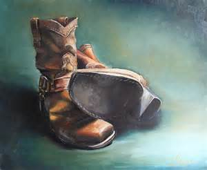 Old Cowboy Boots Paintings