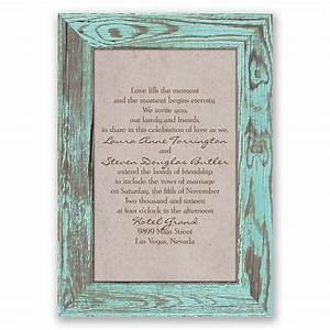 Rustic frame invitation invitations by dawn for Wedding invitation cards photo frame