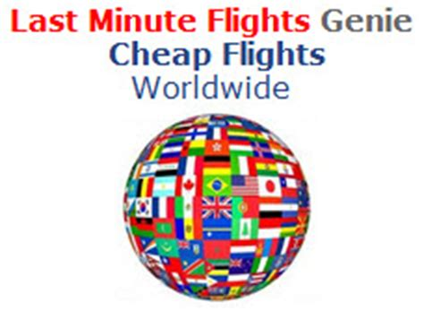 lastminuteflightsgeniecom launches website  find cheap airline