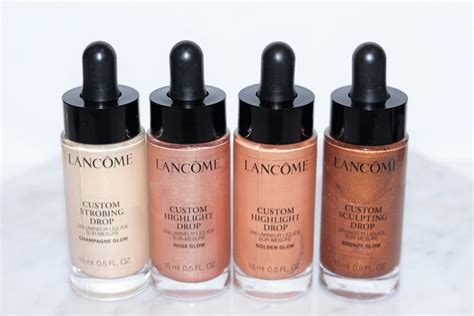 Lancome Highlighter lancome custom drops liquid highlighter review swatches