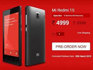 Xiaomi Redmi 1s Refurbished  Unboxed Units To Go On Sale