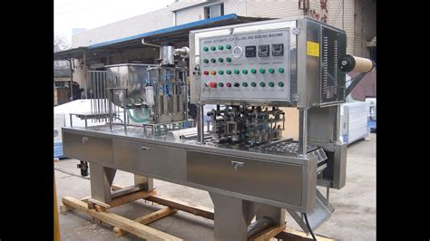 lanes automatic cups filling sealing machine fully auto