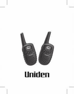 Uniden Portable Radio Uh036sx User Guide