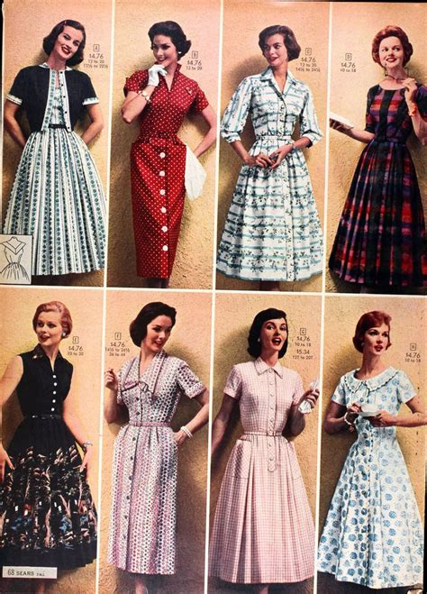 Sears Catalog Springsummer 1958 Womens Dresses Love