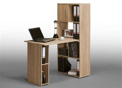 bureau en informatique bureau informatique contemporain avec rangement chêne