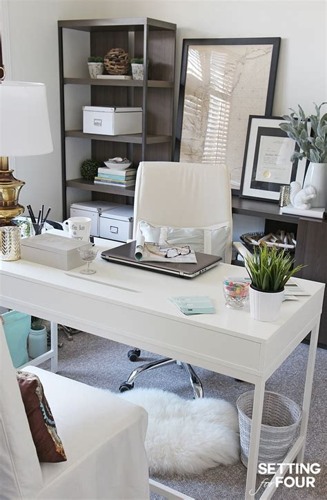 Home Office Makeover  Before And After  Setting For Four