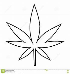 Marijuana clipart leaf outline - Pencil and in color ...
