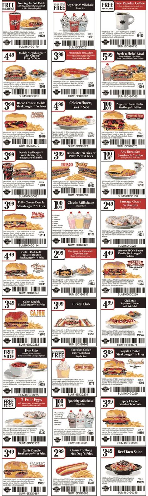 28570 Steak And Shake App Coupons by Pinned June 6th Various Meal Coupons For Steaknshake