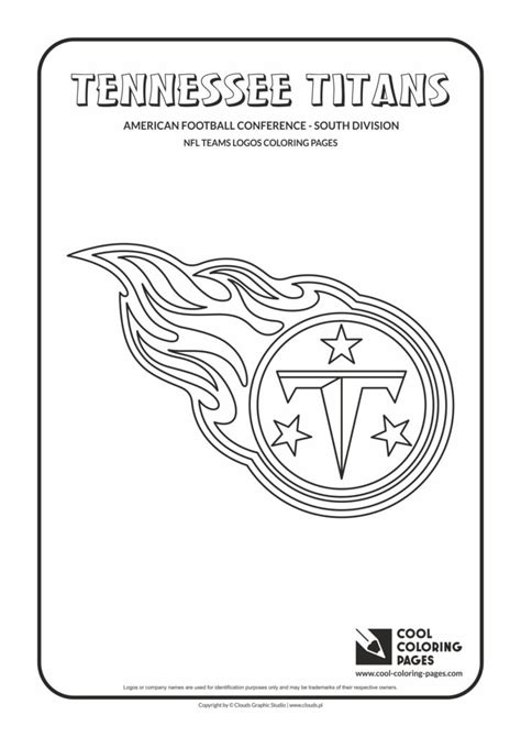 cool coloring pages tennessee titans nfl american