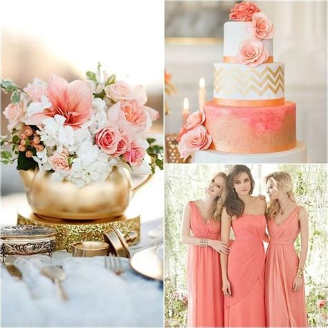 coral color decorations for wedding best 25 coral gold weddings ideas on coral