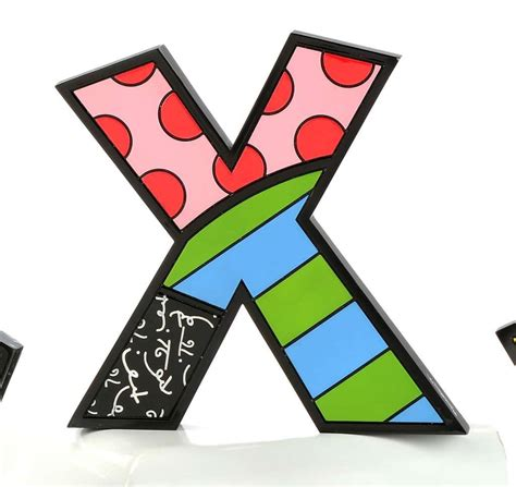 large water bottles britto letter x pop miami