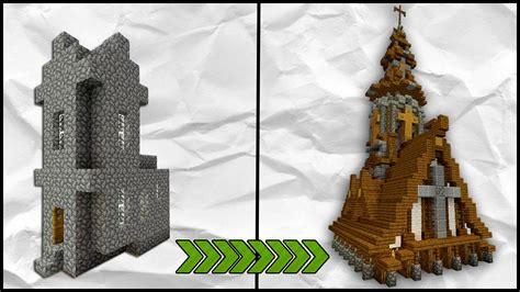 minecraft   transform  village tutorial medieval church tutorial youtube
