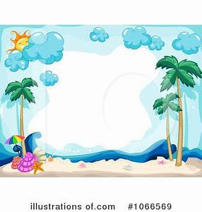 Tropical Beach Clipart #1066569 - Illustration by BNP ...