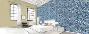 papier peint bleu chambre adulte ralisscom With couleur avec bleu marine 16 blog papiers peints de marques inspiration decoration