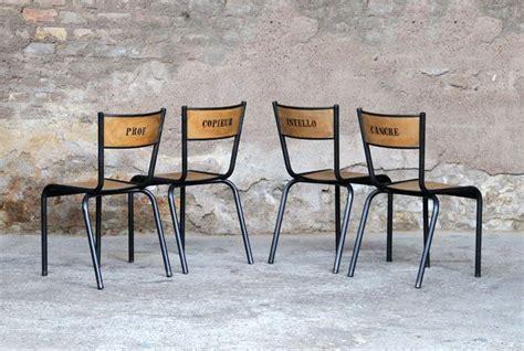 chaise d ecole anciennes chaises d écoles rénovées et relookées idée déco back to back to