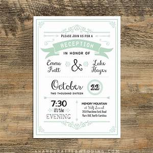 customize this diy reception only invitation template and With wedding invitation printing only