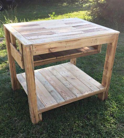 wooden kitchen island table reclaimed pallet kitchen island table 1641