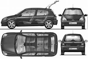 Dimensions Clio 4 : car blueprints renault clio ii blueprints vector drawings clipart and pdf templates ~ Maxctalentgroup.com Avis de Voitures