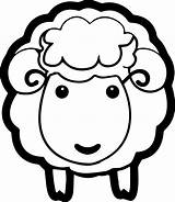 Coloring Sheep Face Lamb Printable Pages Print Sizable Professional Sheet sketch template