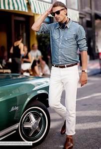 Style Classe Homme : les 10 commandements pour porter le jean blanc mode masculine ~ Melissatoandfro.com Idées de Décoration