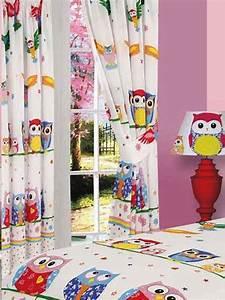 Kinderzimmer Vorhänge Mädchen : kinderzimmer gardinen vorh nge liebenswerte eulen 183cm ebay ~ Watch28wear.com Haus und Dekorationen