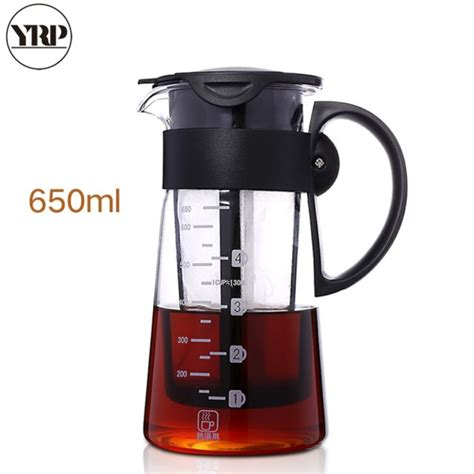 Bassani cold brew coffee maker is ideal and perfect for making cold brew, hot and iced tea. Portable Hot Cold Brew Dual Use Filter Coffee & Tea Pot Espresso Ice Drip Maker Glass Kitchen ...