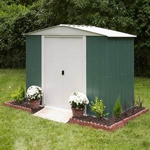 Abri De Jardin Arrow : abri de jardin en m tal 7 57m vert et cr me arrow ~ Dailycaller-alerts.com Idées de Décoration