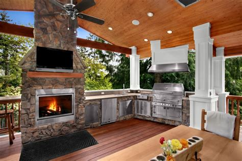 outdoor kitchen and fireplace designs 18 outdoor kitchen designs ideas design trends 7229